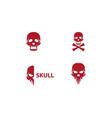 skull logo vector image vector image
