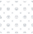 smile icons pattern seamless white background vector image vector image