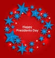 Stars Background for Happy Presidents Day vector image vector image