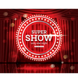 Super Show Open Red Curtains vector image vector image