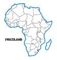 swaziland vector image vector image