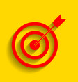 target with dart red icon with soft vector image vector image