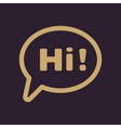 The hi icon Greet and hello symbol Flat vector image