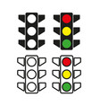 traffic light icon simple vector image