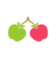 two apples logo vector image