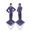 two business man standing characters vector image