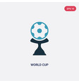 two color world cup icon from sports concept vector image