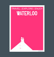 waterloo canada monument landmark brochure flat vector image