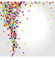 whirlwind of confetti vector image vector image