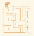 maze labyrinth game vector image