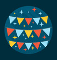 Festive Flags Icon vector image
