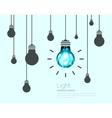 Light Bulbs Background Industrial Science Idea vector image