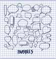 set of hand drawn bubbles vector image