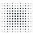 halftone background black dots on white vector image