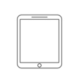 Tablet outline icon Linear vector image