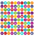 100 auto icons set color vector image vector image