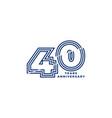 40 years anniversary template