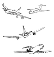 Aircraft Pencil sketch by hand vector image vector image