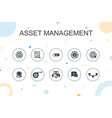 asset management trendy infographic template thin vector image vector image