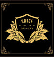 badges logo design template floral vignettes vector image vector image