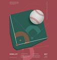 baseball championship sport poster design vector image vector image