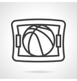 Basketball game black line design icon vector image vector image