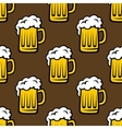 Beer tankards seamless pattern vector image vector image