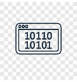 binary code concept linear icon isolated on vector image