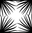 black palm leaf on white background vector image vector image