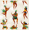 brazil carnival seamless pattern with flat vector image vector image