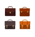 briefcases icon set vector image vector image