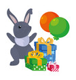 bunny gift boxes happy easter vector image vector image