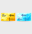 business card bright design with yellow and blue vector image vector image