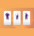 business job vacant character mobile app page vector image vector image