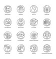 business line icons 4 vector image vector image
