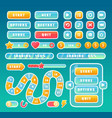 buttons for mobile user game ui interface set vector image