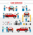 car repair service flat vector image