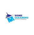 cleaning logo tonkq vector image