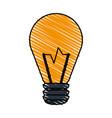 color crayon stripe image cartoon halogen light vector image vector image