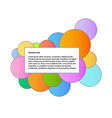 color graphic with information box vector image vector image