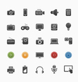 device and multimedia symbol icon set vector image vector image