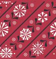 diagonal folklore floral stripes seamless vector image vector image