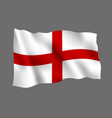 england flag isolated on gray background vector image vector image