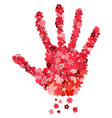 floral handprint vector image