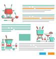 Fondue pattern design brochures vector image vector image