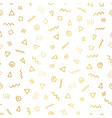 gold foil abstract doodle shapes background vector image vector image