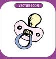 hand drawn nipple vector image