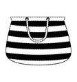 handbag female beach icon vector image