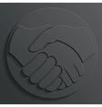 handshake icon vector image vector image