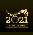 happy new year 2021 with gold particles vector image